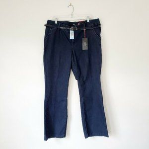 Torrid 20 Belted Jeans Trousers Denim Bootcut NWT